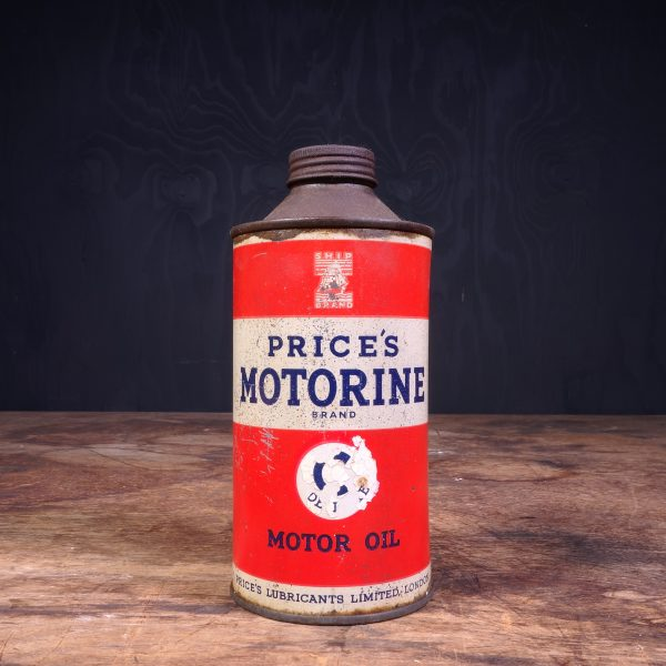 1920 Price's Motorine Motor Oil Can