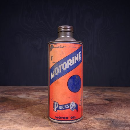 1930 Price's Motorine Motor oil can