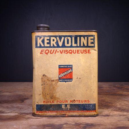 1940 Kervoline Huile Pour Moteurs Motor Oil Can