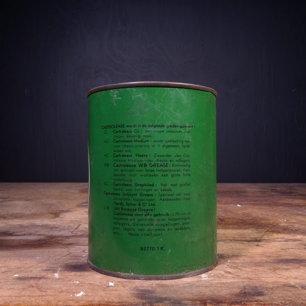 1940 Castrol Castrolease Grease Can