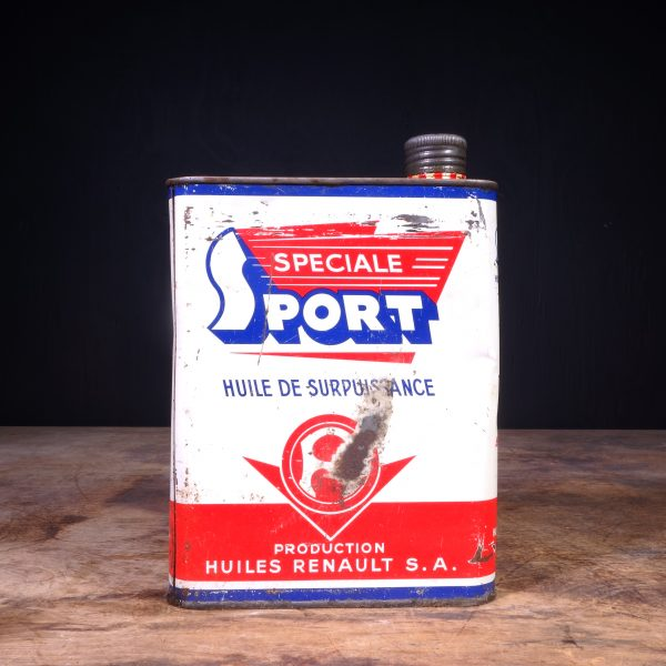 1960 Huiles Renault Speciale Sport Oil Can