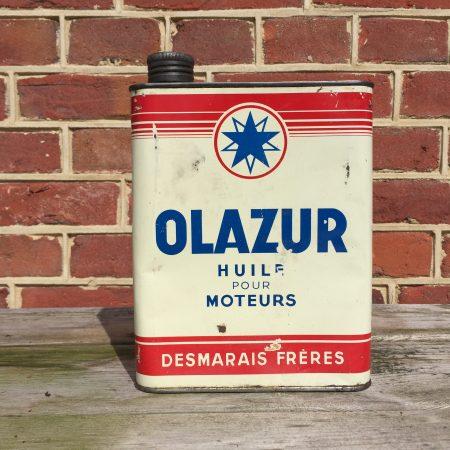 1950's Olazur Huile Pour Moteurs oil can