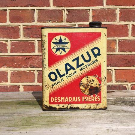 1940's Olazur Huile Pour Moteurs oil can