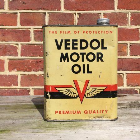 veedol motor oil olieblik oil can bidon huile oeldose