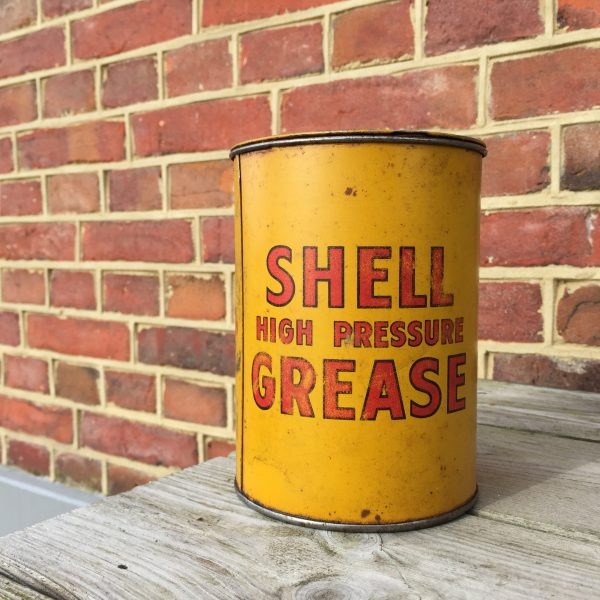 shell high preasure grease can