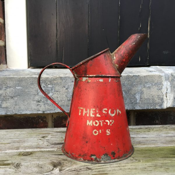 1954 Thelson Motor Oil / Tractor Oil pourer thelson, tractor, motor, oil, jug, pourer