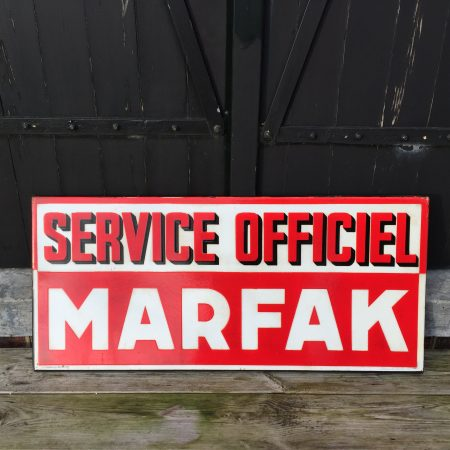 1948 Caltex Marfak Service Officiel doublesided enamel sign