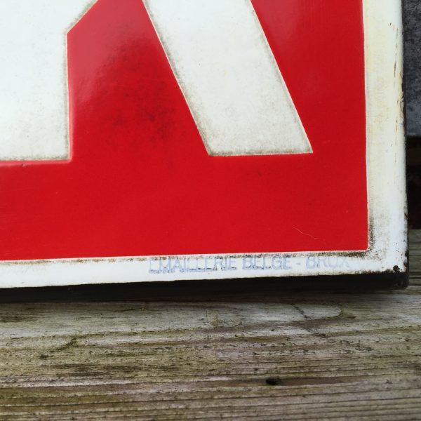 1948 Caltex Marfak Service Officiel doublesided enamel sign