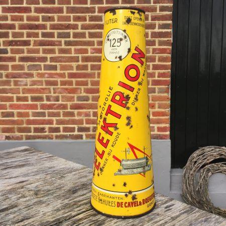 1940's Elektrion Huile Pour Moteurs Motorolie oil can