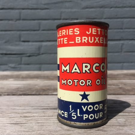 1950's Marco Motor Oil 2T oil can