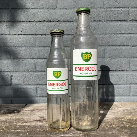 1950's BP Energol Motor Oil bottle set