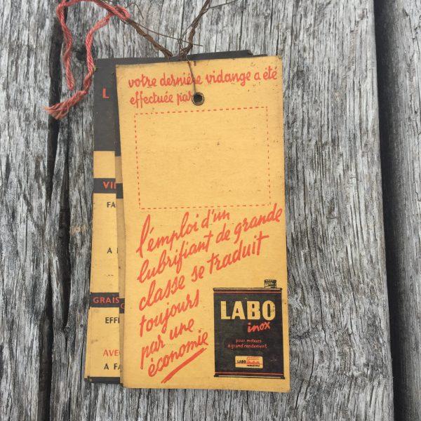 1960's LABO grease card