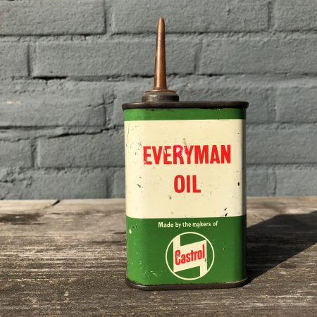 1950's Castrol Every Man oil can