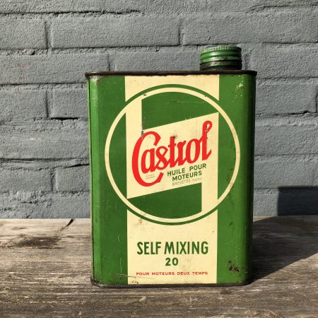 1940's Castrol Motor Oil Self Mixing oil can