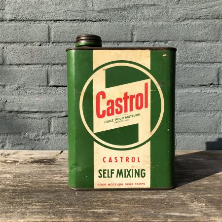 1950's Castrol Motor Oil Self Mixing oil can