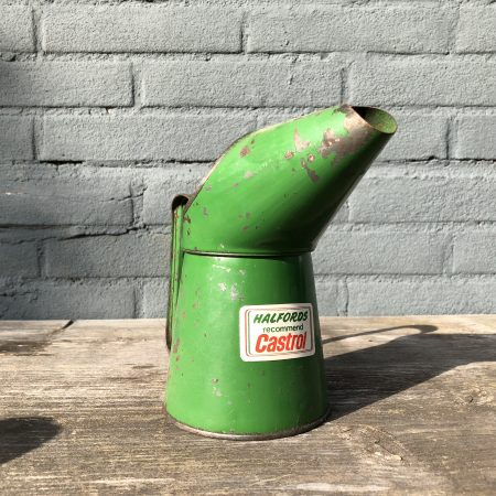 castrol half pint halfords oil jug pourer vintage garage
