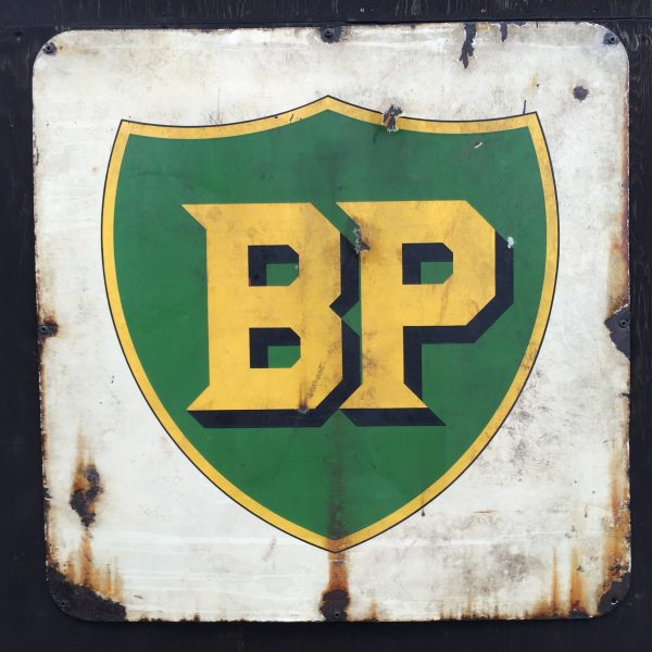 1930's, BP, enamel, doublesided, sign