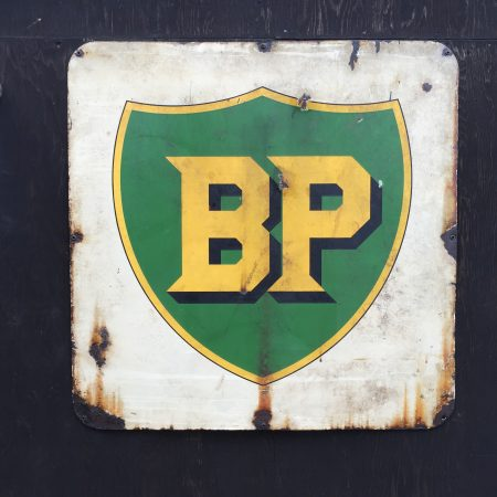 1930's, BP, enamel, doublesided, sign