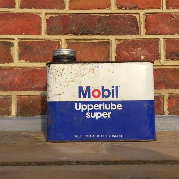 1970's Mobil Upperlube Super Oil can