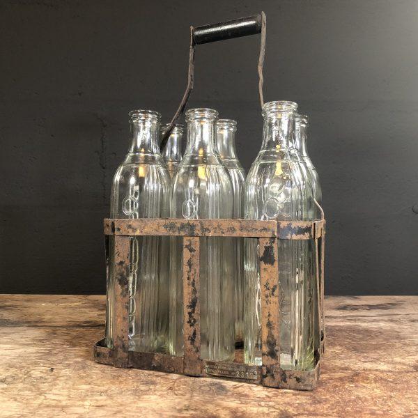 1950's Caltex Motor Oil bottle rack