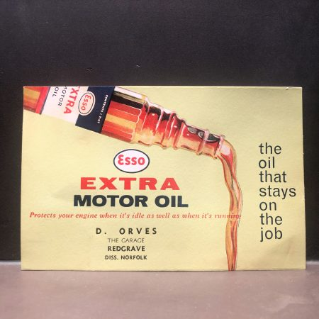 1950 Esso Extra Motor Oil Blotter