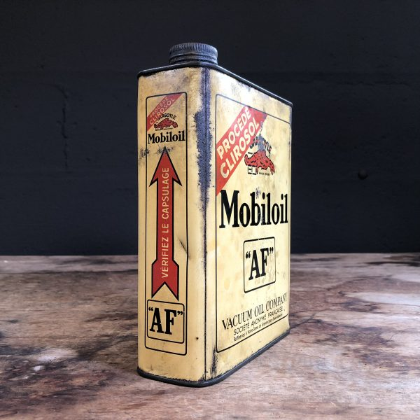 1930's Gargoyle Mobiloil AF oil can