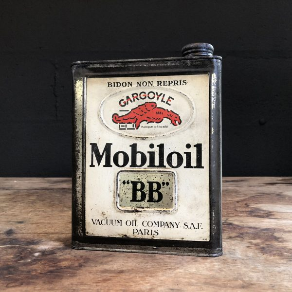 1930's Gargoyle Mobiloil BB oil can