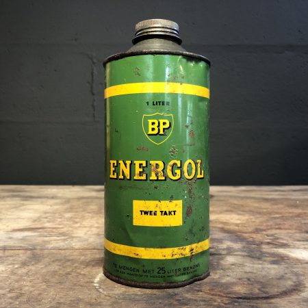 1950's BP Energol Twee Takt Deux Temps oil can
