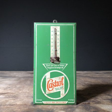 1940's Castrol thermometer sign