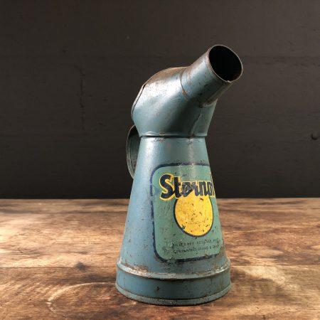 1930's Sternol Motor Oil Jug vintage garage old sternol motor oil pint size oil jug pourer broc huile oliekan