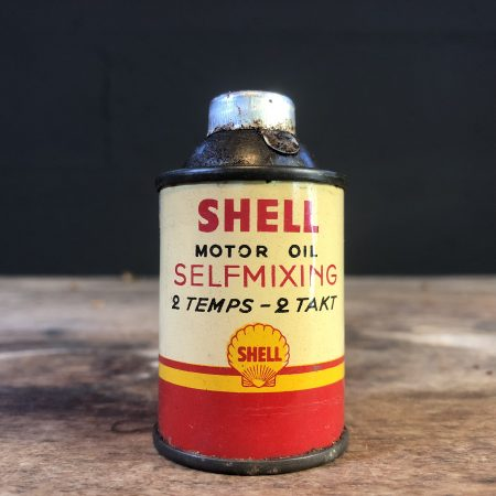 1950's Shell Motor Oil Selfmixing oil can