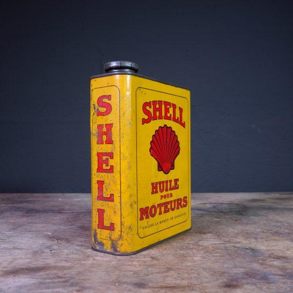 1930's Shell Huile Pour Moteurs Oil Can