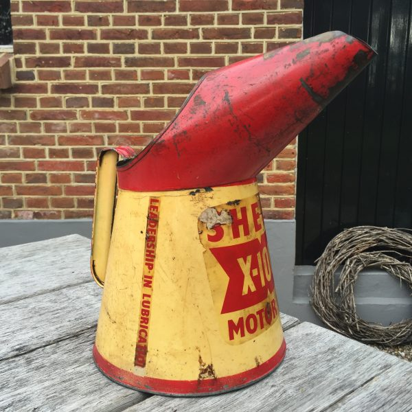 1957 Shell X-100 Motor Oil jug