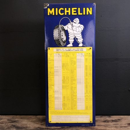 1967 Michelin tire pressure sign
