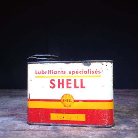 1950's Shell Lubrifiants Specialises Donax U oil can