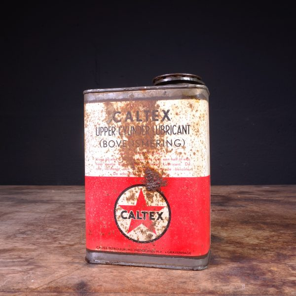 1950's Caltex Upper Cylinder Lubricant Oil Can