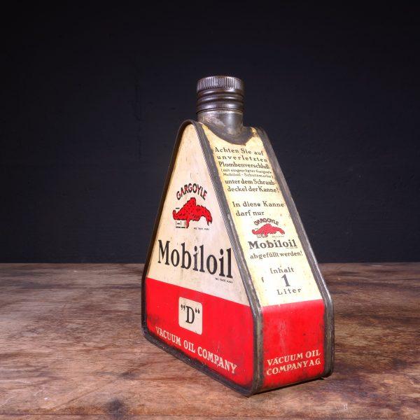1920's Gargoyle Mobiloil D Oil Can