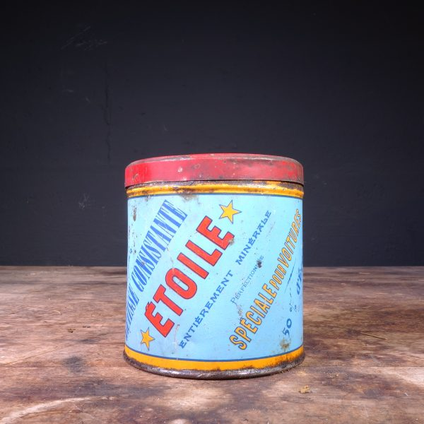 1920's Étoile Graisse Grease Can