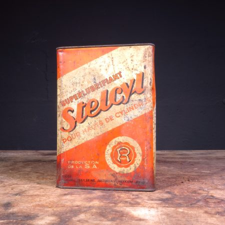 1950's Huiles Renault Stelcyl oil can