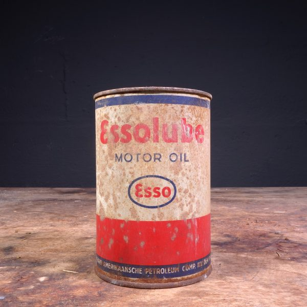 1950's Essolube Motor Oil can