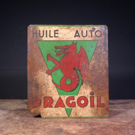 1930's Dragoil Huile Auto sign