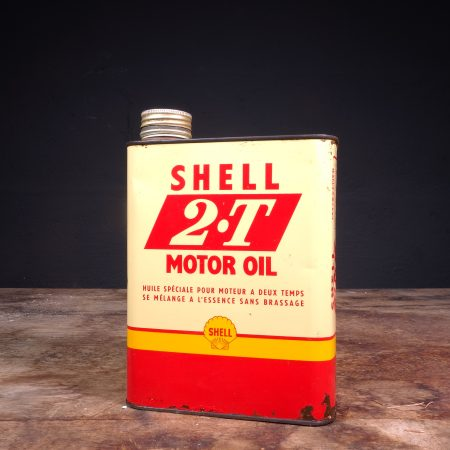 1950's Shell 2-T Motor Oil Can