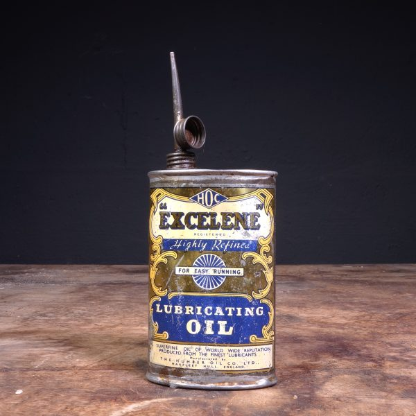 1930's Excelene Lubricating Oil Can