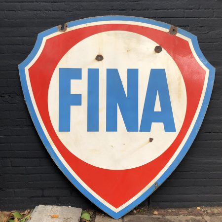 1950's Fina Enamel Sign