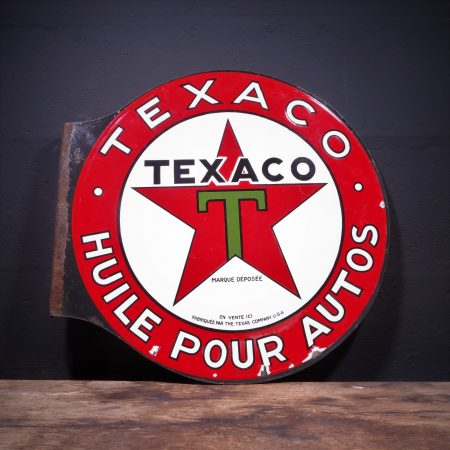 1930's Texaco Enamel Flange Sign