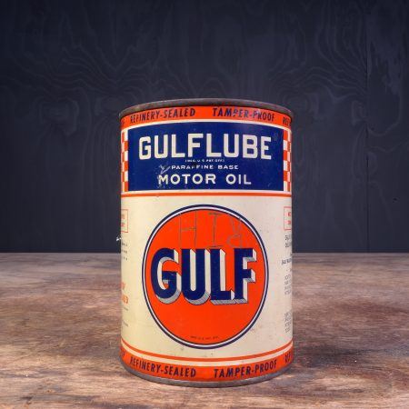 1940 Gulf Gulflube Motor Oil Can