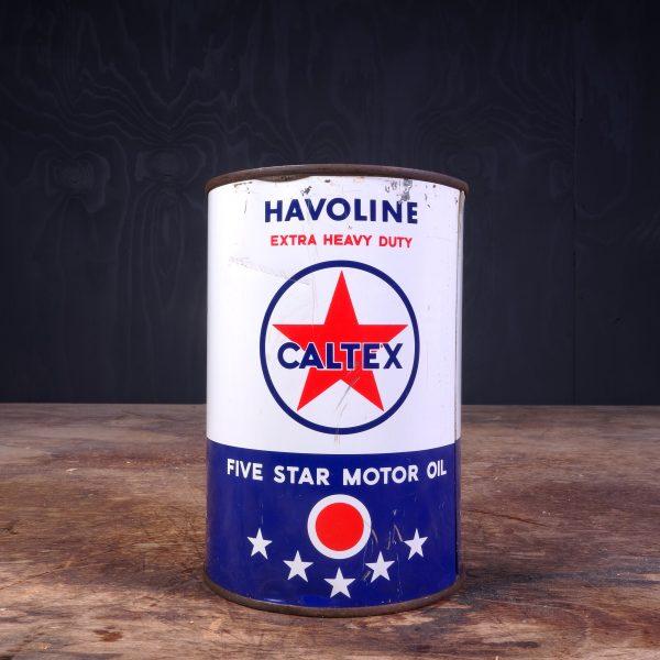 1950 Caltex Havoline Motor Oil Can