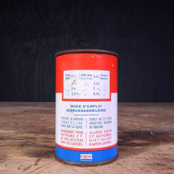 1950 Esso 2T Motor Oil Selfmixing Oil Can
