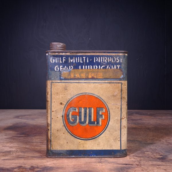1950 Gulf Gear Lubricant Oil Can