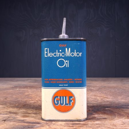 1940 Gulf Electric Motor Oil Can